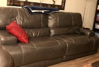 brown leather 3-seat sofa Commerce City, 80640