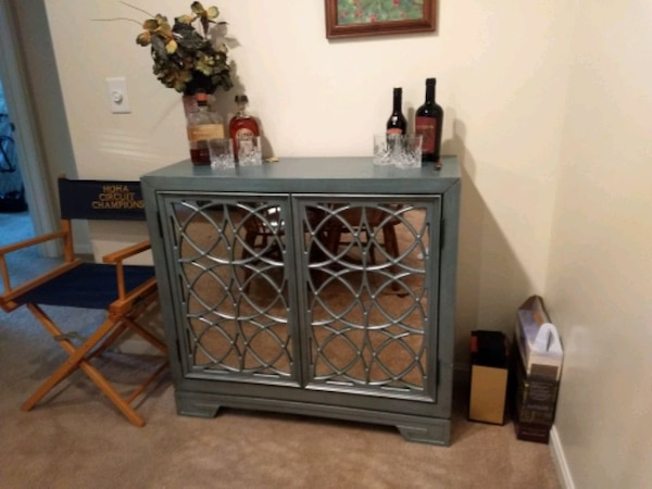 Bar cabinet with wine rack 3