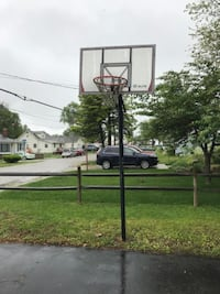Basketball hoop- in the ground no stand