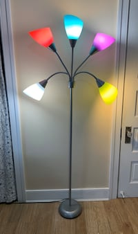 Colorful floor lamp