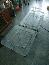2 glass tables Tampa