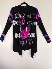 New 2-piece Rock N' Karma Outfit  Retails $500 Only $125