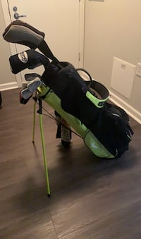 Full Titleist Zb Forged set with Nike Air sport golf bag