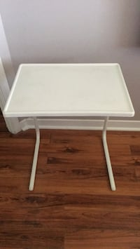 white wooden folding table with white wooden base Laval, H7T 2S1