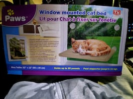 Paws window mounted cat bed