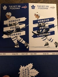 Pair of TORONTO Maple Leaf  Tickets