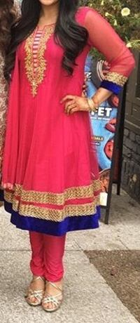 Pink and blue Indian anarkali suit Brampton, L6T 3G6