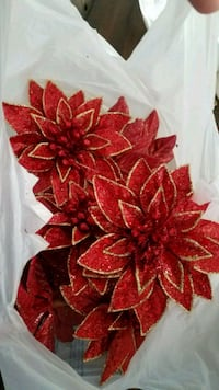 11 red and gold floral Christmas decoration Kissimmee