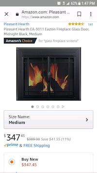 Glass fire place screen  Southgate, 48195
