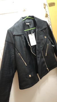 Black leather zip-up jacket New Westminster, V3L 1G2