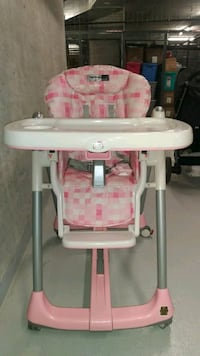 baby's pink and white high chair Surrey, V3T 0L5