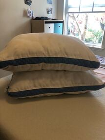 Set of 2 Utopia bedding quilted hissed pillows. With 2 sets of shams