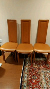 6 Brown Dining Room Chairs Mississauga, L5M 6T3
