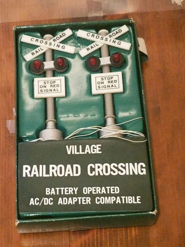Department 56 Vintage Railroad Crossing Sign 5501-