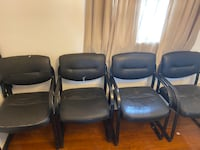 4 Cushion arm chairs