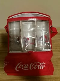 Coke picnic and lunch bag with 6 glasses Brick, 08724