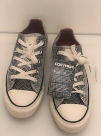 pair of gray Converse All-Star low-tops 46 km