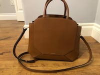 Brown leather 2-way handbag AUX BAG Coquitlam, V3E 3A2