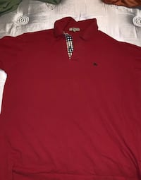 Red collared Burberry Shirt Baltimore, 21237