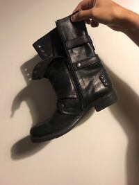 Biker leather boots Los Angeles, 90014