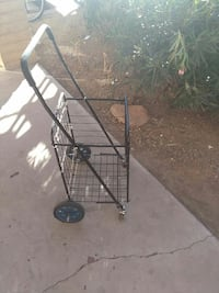 black collapsible shopping cart