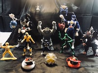 assorted color action figure collection