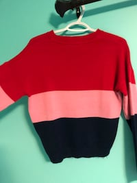 RED,PINK,NAVY KNIT SWEATER