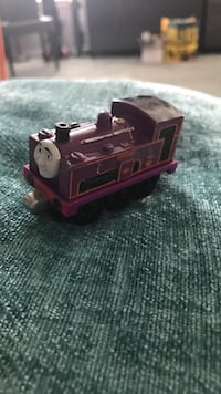 Purple and red thomas the train toy