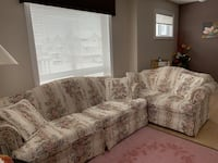 Comfortable three seaters with two seater love couch Edmonton, T6W 1W3