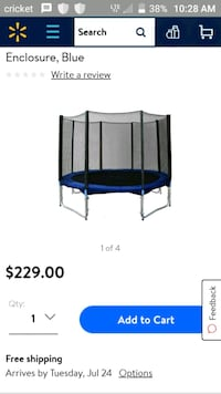 blue and black trampoline screenshot El Paso, 79938