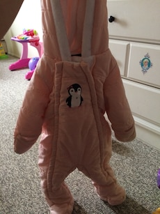 Pink Penguin infant SnowSuit