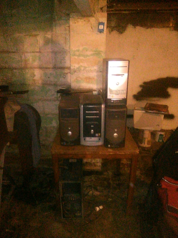 2 Dell pc an HP pc and an E Machine c