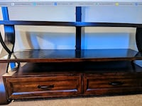 black and brown wooden TV stand Omaha, 68118