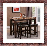 5pc Pub table with 4 stools free delivery  Alexandria, 22305
