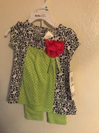 Black white green and white outfit 18m Bakersfield, 93304