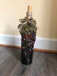 Decorative glass bottles with light