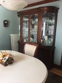 Dining room set. Table , six chairs and hutch Pointe-Claire, H9S 5G5
