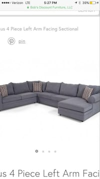 4 piece sectional added studs for decorative purposes. Professionally cleaned with steame Mooresville, 28117