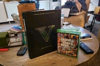 (XBOX ONE) Gta 5 hardcover and game  Las Vegas, 89119