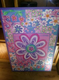pink, blue, and green floral painting Denver, 80236