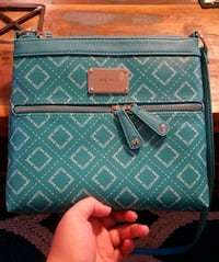 teal and white leather crossbody bag Columbia, 29209