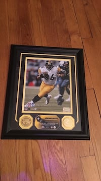 Jerome Bettis framed picture with gold coin Rockville, 20853