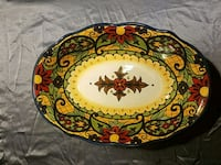 Corsica plate hand painted Traverse City, 49686