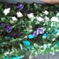 Turquoise 6ft 3D Chain Silk Rose Garland Attleboro