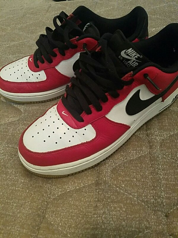 Used Nike air force 1 red white for sale in Clovis - letgo 79a457d97