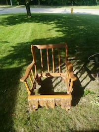 brown wooden rocking chair with table Kitchener, N2G 3A7