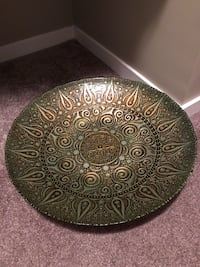 Round rose gold ceramic display/fruit plate from Turkey Edmonton, T6R 0R6
