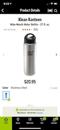 klean kanteen water bottle  Bethesda, 20817