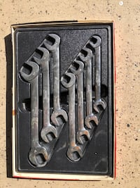 Snap on angle head open end wrench set 10mm to 17 mm  Rowlett, 75088