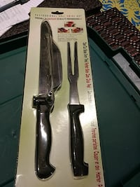 two black handle gray Deli Knife set in blister pack Vaughan, L4L
